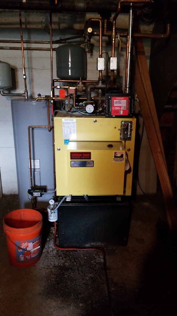 Easton, PA - Water leak repair on Energy Kinetics System 2000 boiler