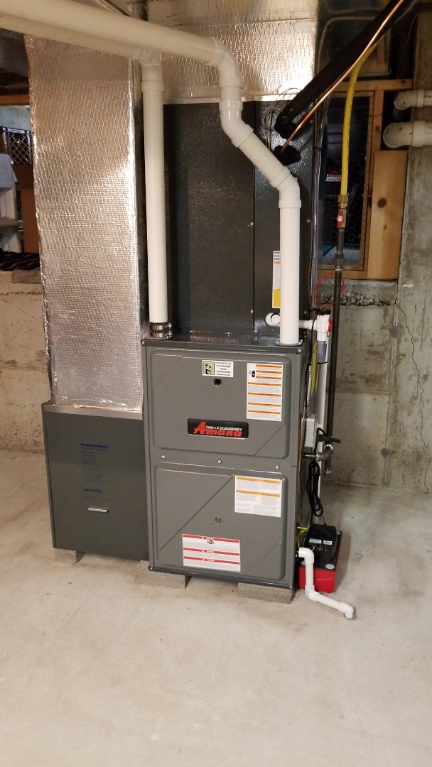 Nazareth, PA - Gas furnace and central air conditioning replacement