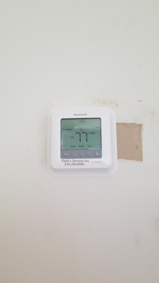 Bethlehem, PA - digital programmable thermostat installation