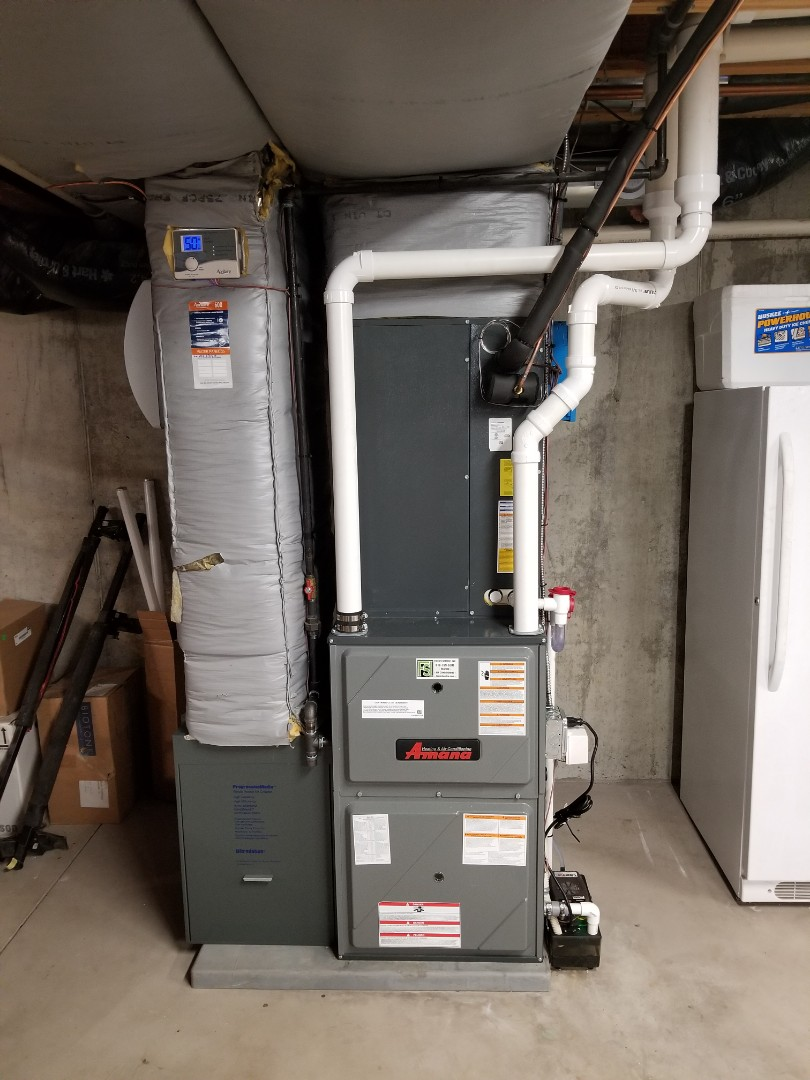 Easton, PA - Gas furnace and central air conditioning replacement