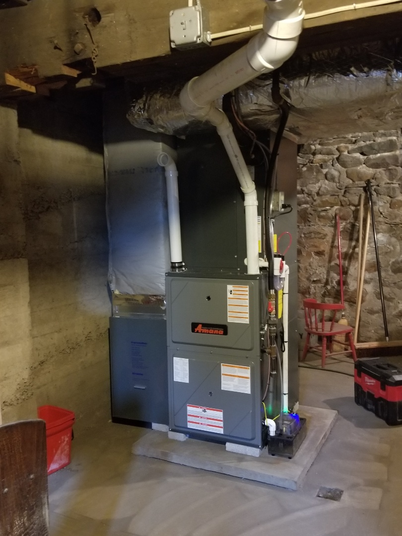 Bangor, PA - Gas furnace and air conditioning replacement