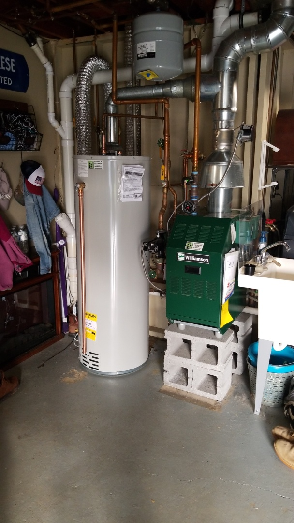 Nazareth, PA - Has water heater replacement and boiler tune up