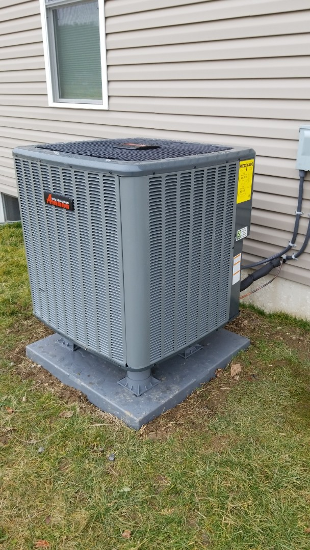 Heat pump replacement and aprilaire humidifier installation
