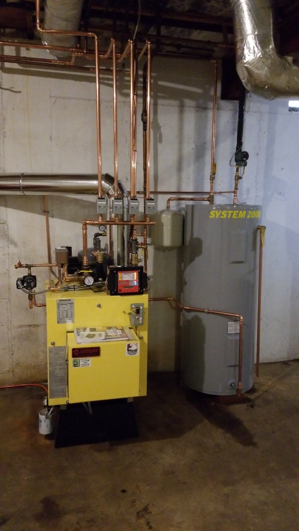 Energy kinetics System 2000 boiler replacement