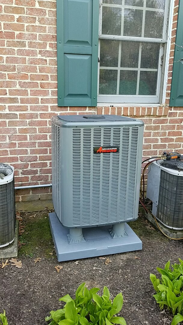 Bethlehem, PA - Replacing leaking Carrier air conditioning system with new Amana system.