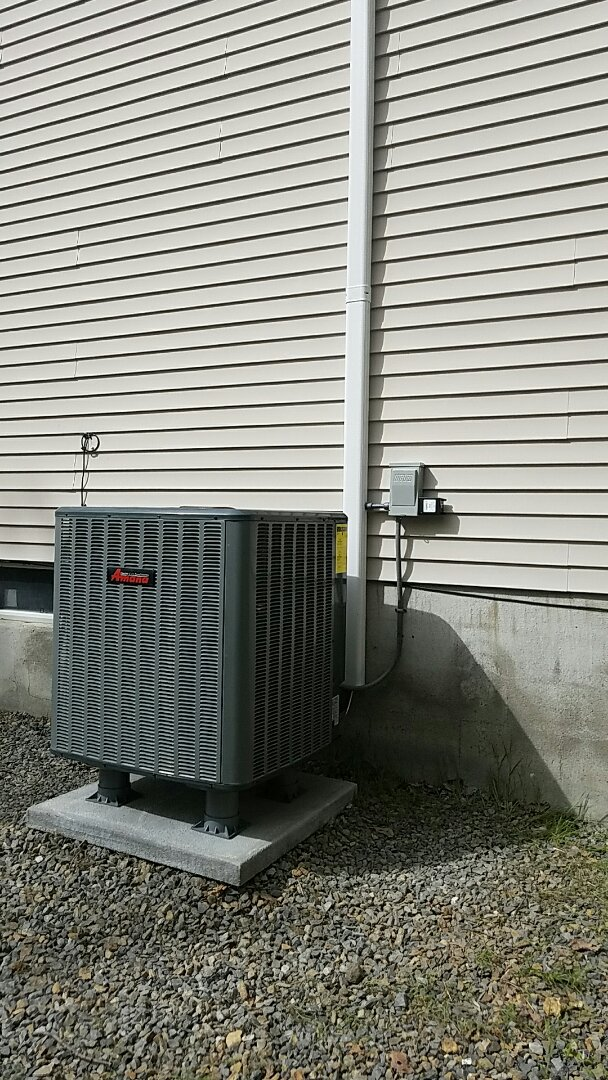 East Stroudsburg, PA - Installation of Unico heat pump with Amana outdoor unit
