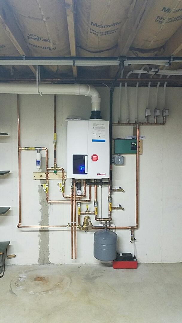 Bethlehem, PA - Installation of high efficiency Rinnai gas boiler