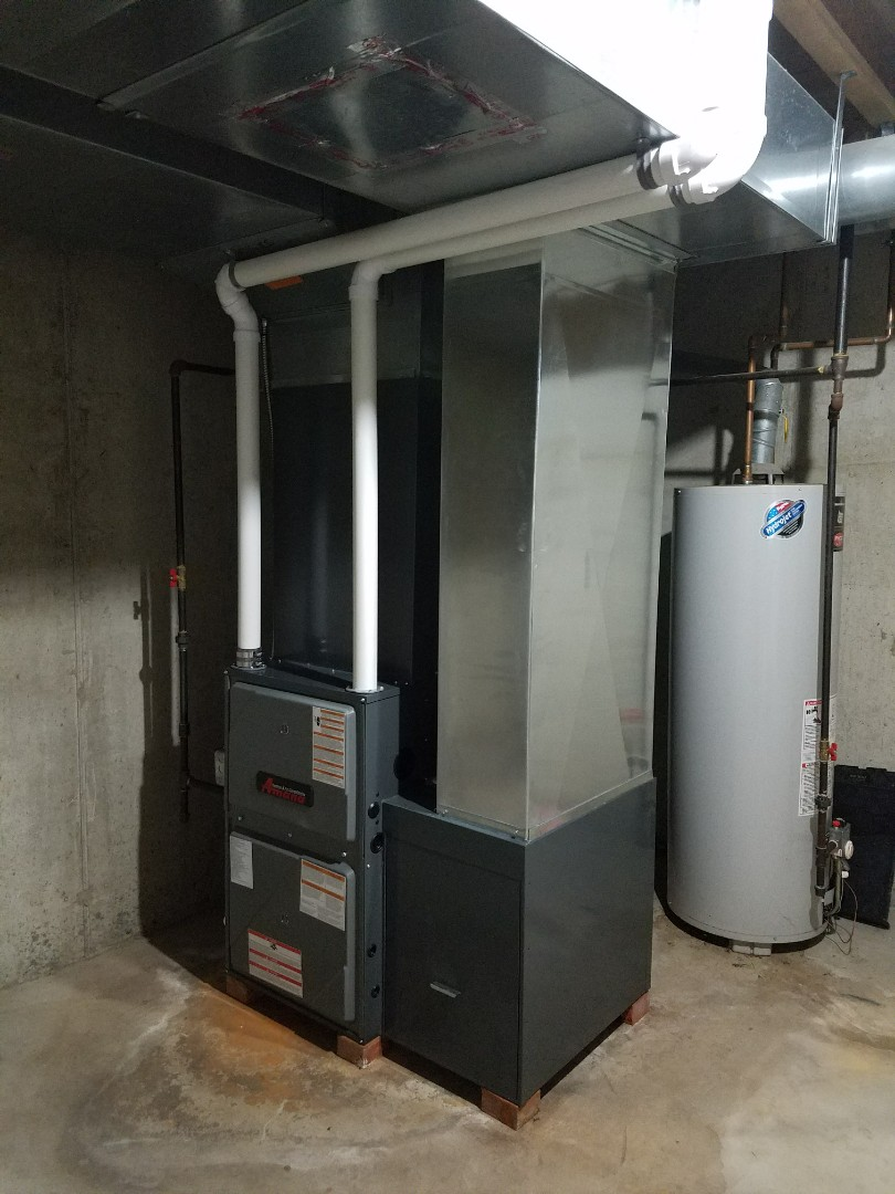 Phillipsburg, NJ - Replacement of gas furnace and air conditioning system with new Amana condensing gas furnace and 16 Seer Amana air conditioning system