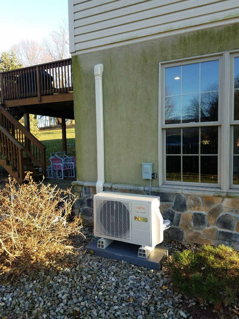 Wind Gap, PA - Fujitsu ductless heat pump installation