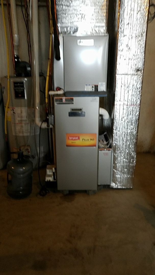 Pen Argyl, PA - Replacing defective secondary heat exchanger under warranty on Bryant propane furnace