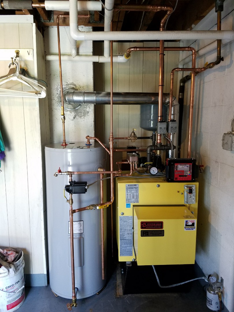 Northampton, PA - Oil boiler replacement. Energy Kinetics System 2000