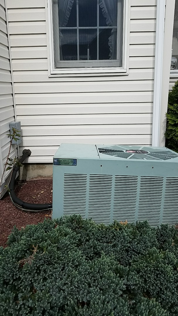 Nazareth, PA - Adding refrigerant to Rheem air conditioning system