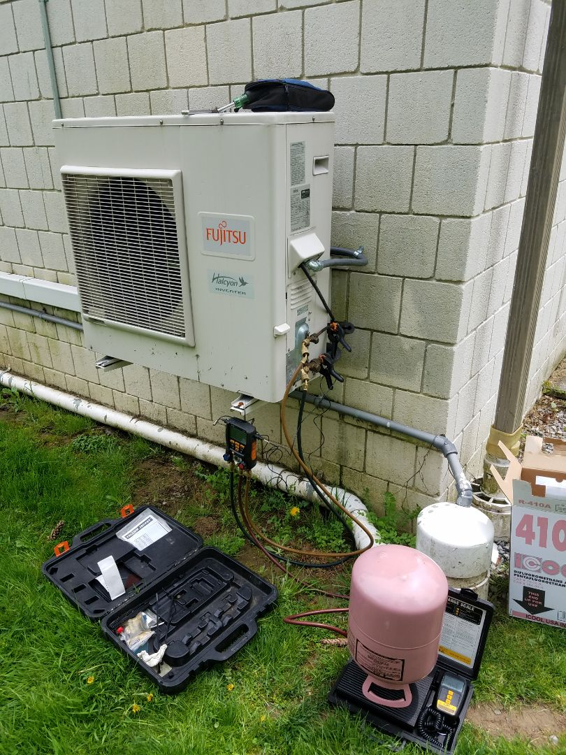 Nazareth, PA - Refrigerant leak on Fujitsu ductless air conditioning system