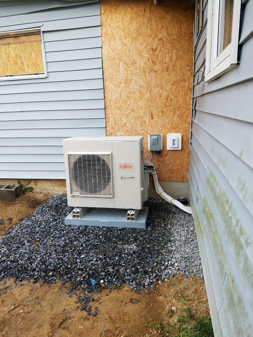 Nazareth, PA - Fujitsu ductless heat pump installation
