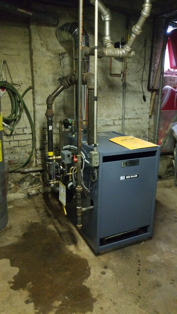 Allentown, PA - Weil Mclain steam boiler replacement