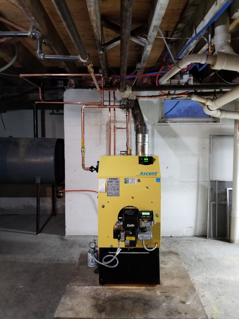 Wind Gap, PA - Oil boiler replacement. Installed a Energy Kinetics Ascent boiler