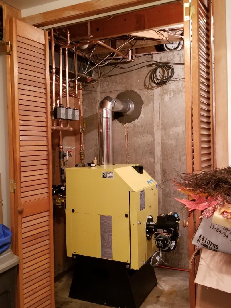 Pen Argyl, PA - Oil boiler replacement. Energy Kinetics Ascent installation