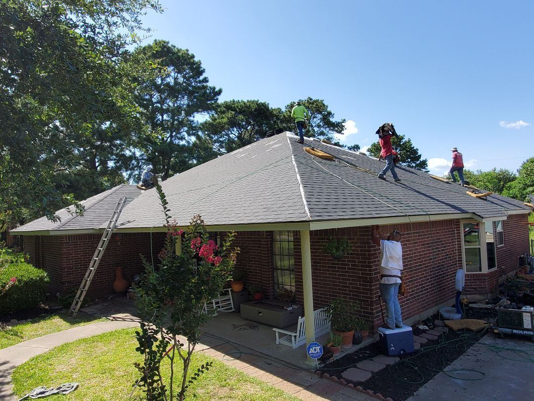 Cypress, TX - Finishing up another one today! CertainTeed Landmark Moire Black