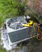 Gonzales, LA - Performed Maintenance on 15 year old Rheem R-22 Gas furnace system in Baton Rouge