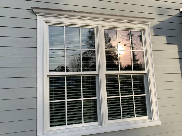 Chatham Township, NJ - We've just installed beautiful gridded double hung windows.