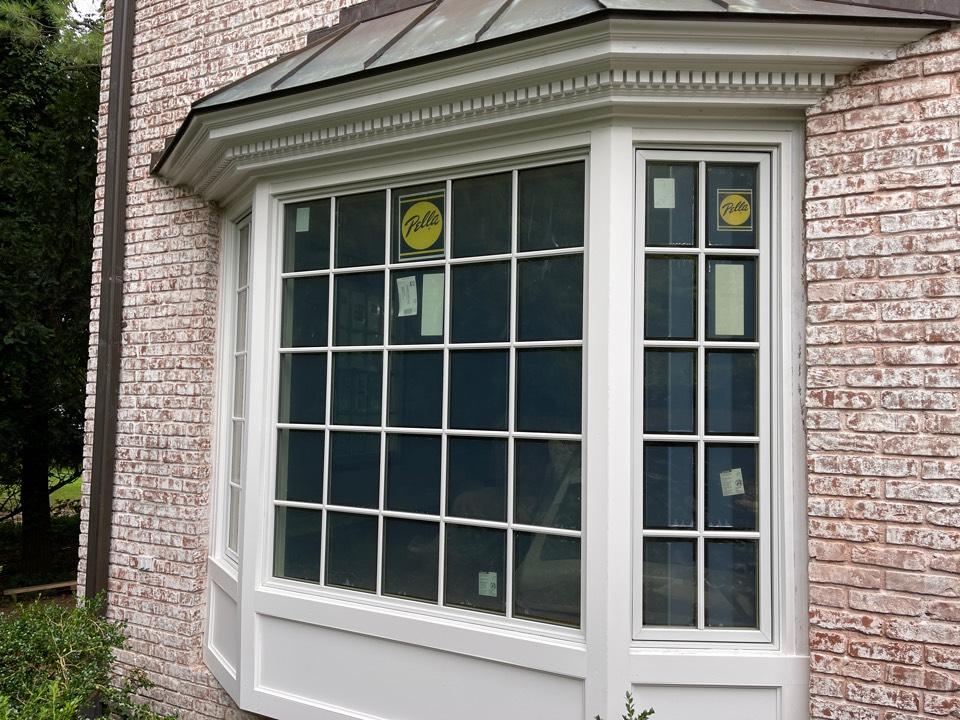 Millburn, NJ - Pella Bay window with custom Azek trim.  Short Hills, NJ.  Window and Door installation.