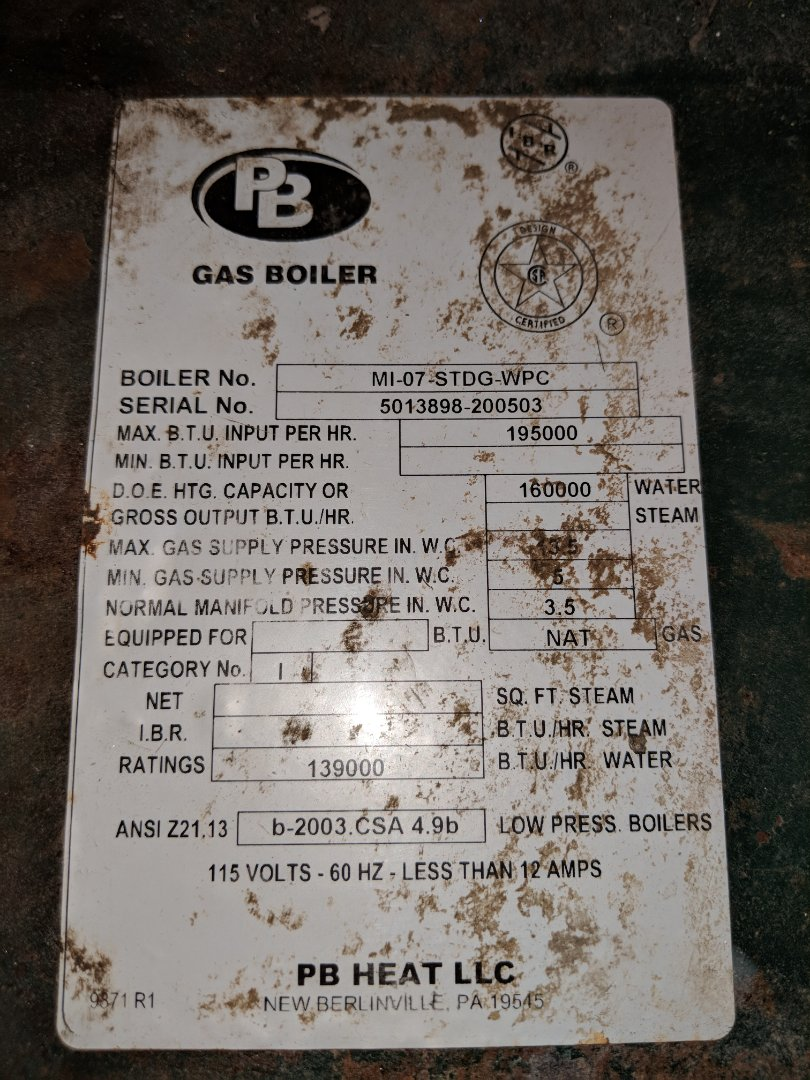 Replace zone valve head on hot water boiler