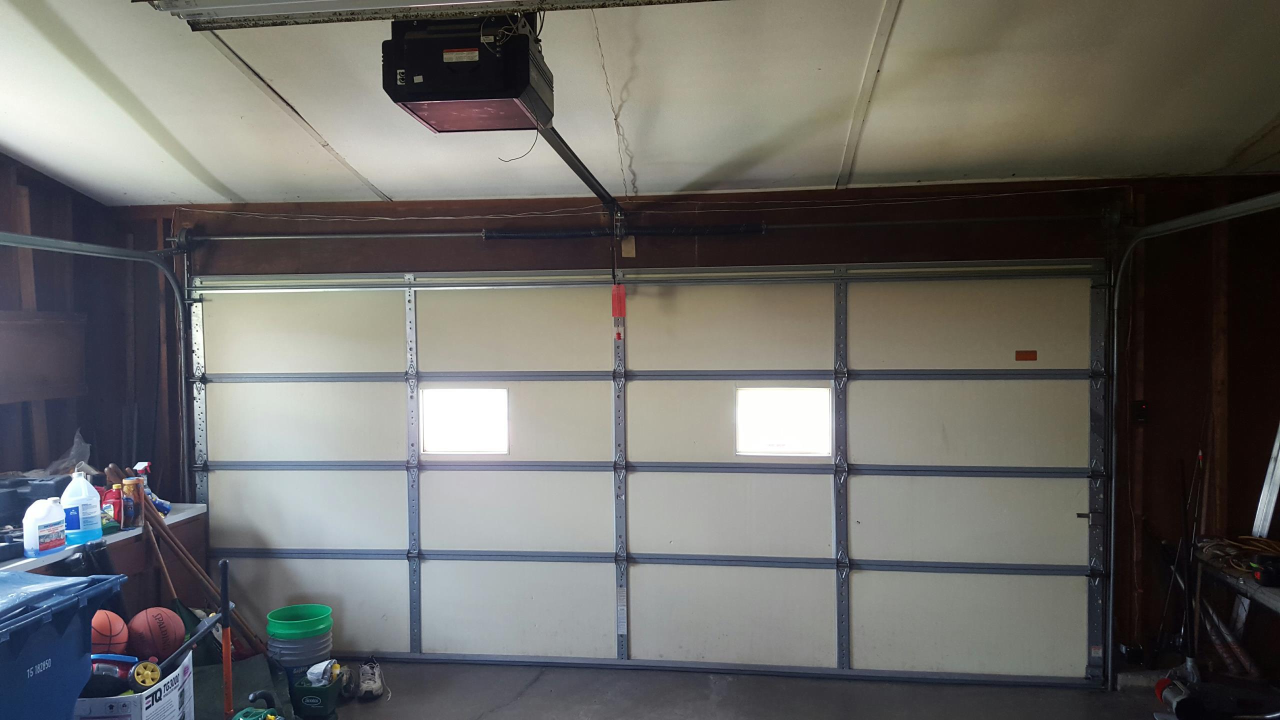 New garage doors and garage door repair arlington il the customer needed the door and cables adjusted rubansaba