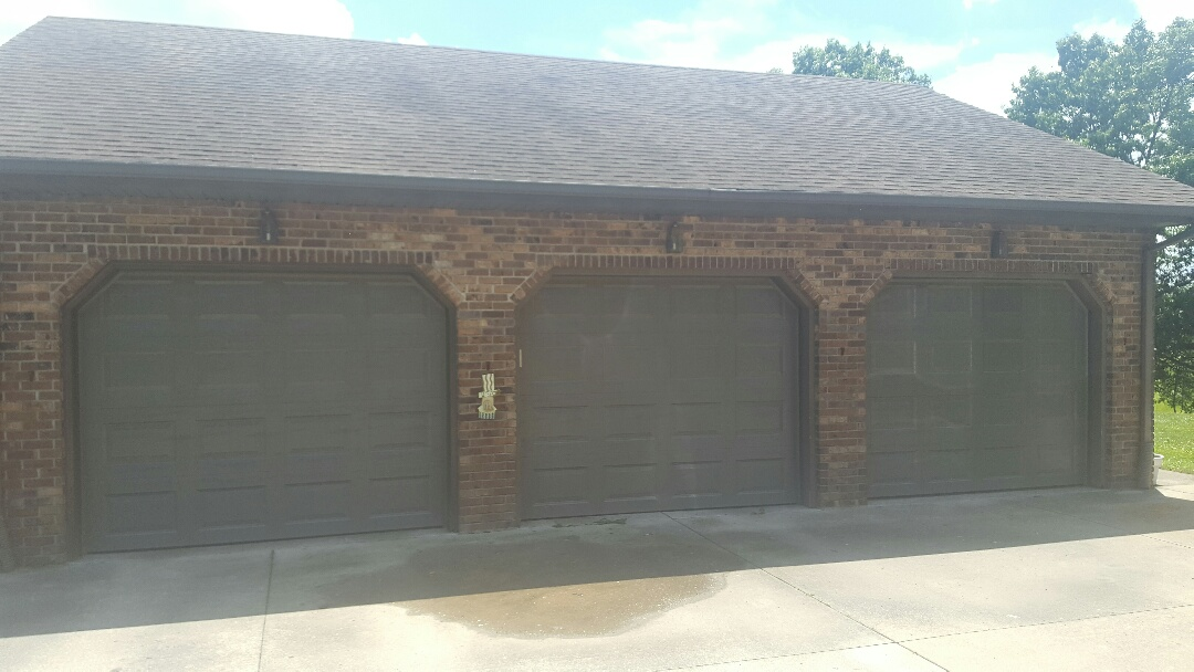 Dalzell, IL - 3 new 9'x7' garage doors. Terratone in color.