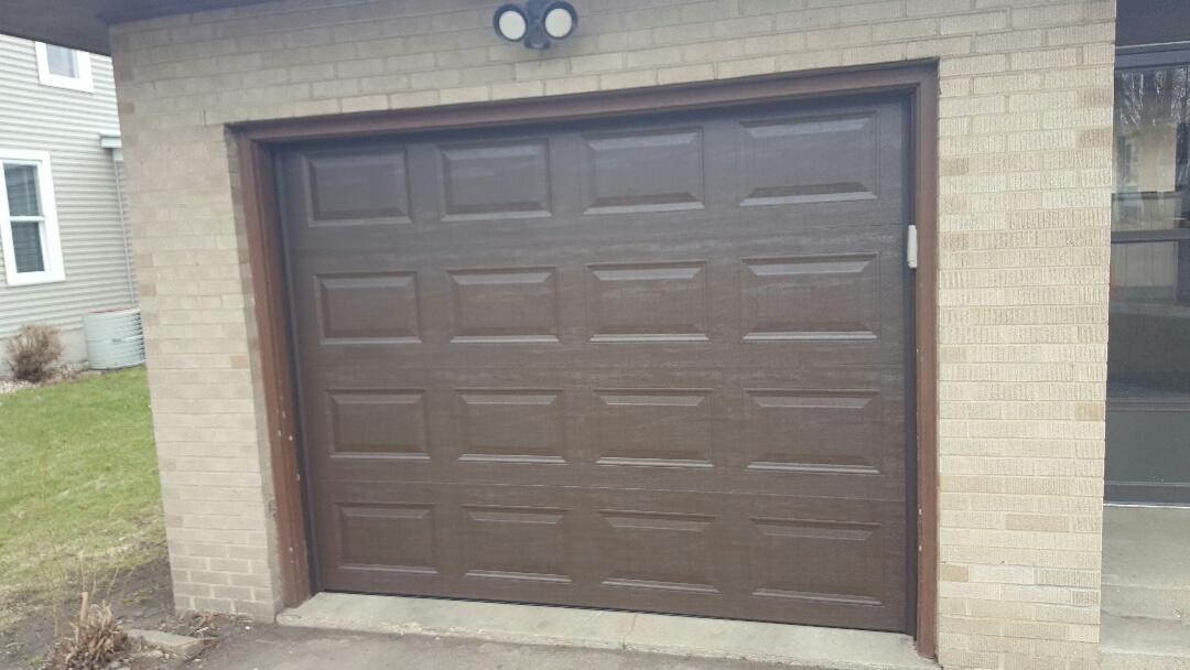 ottawa il new steel insulated garage door brown in