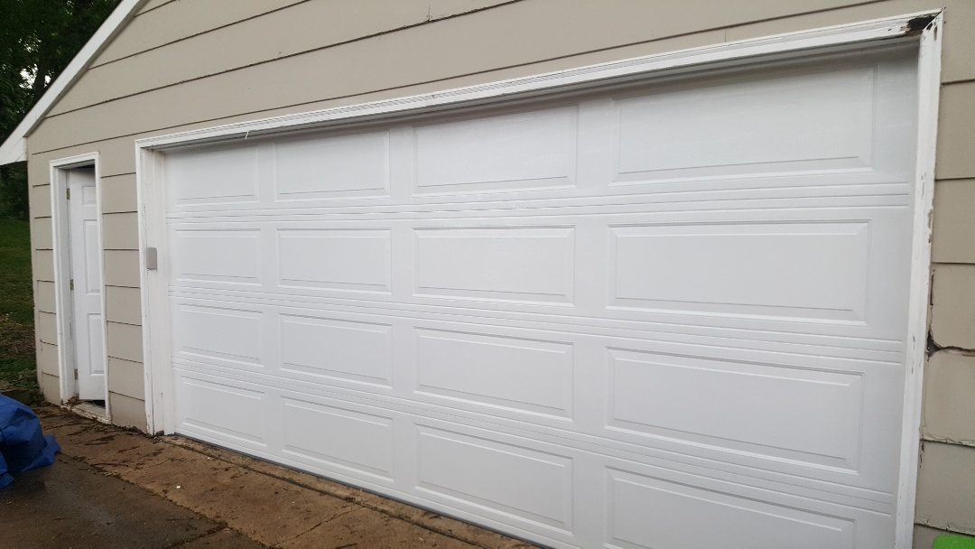 Jeremy installed new garage door and opener