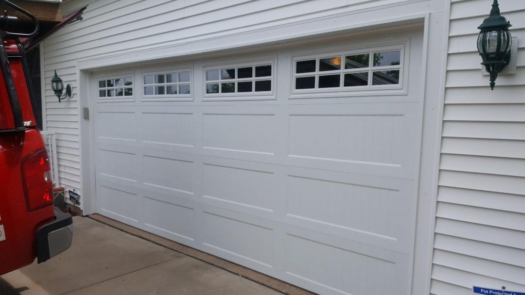Centerville, MN - Jeremy installed new garage door and opener