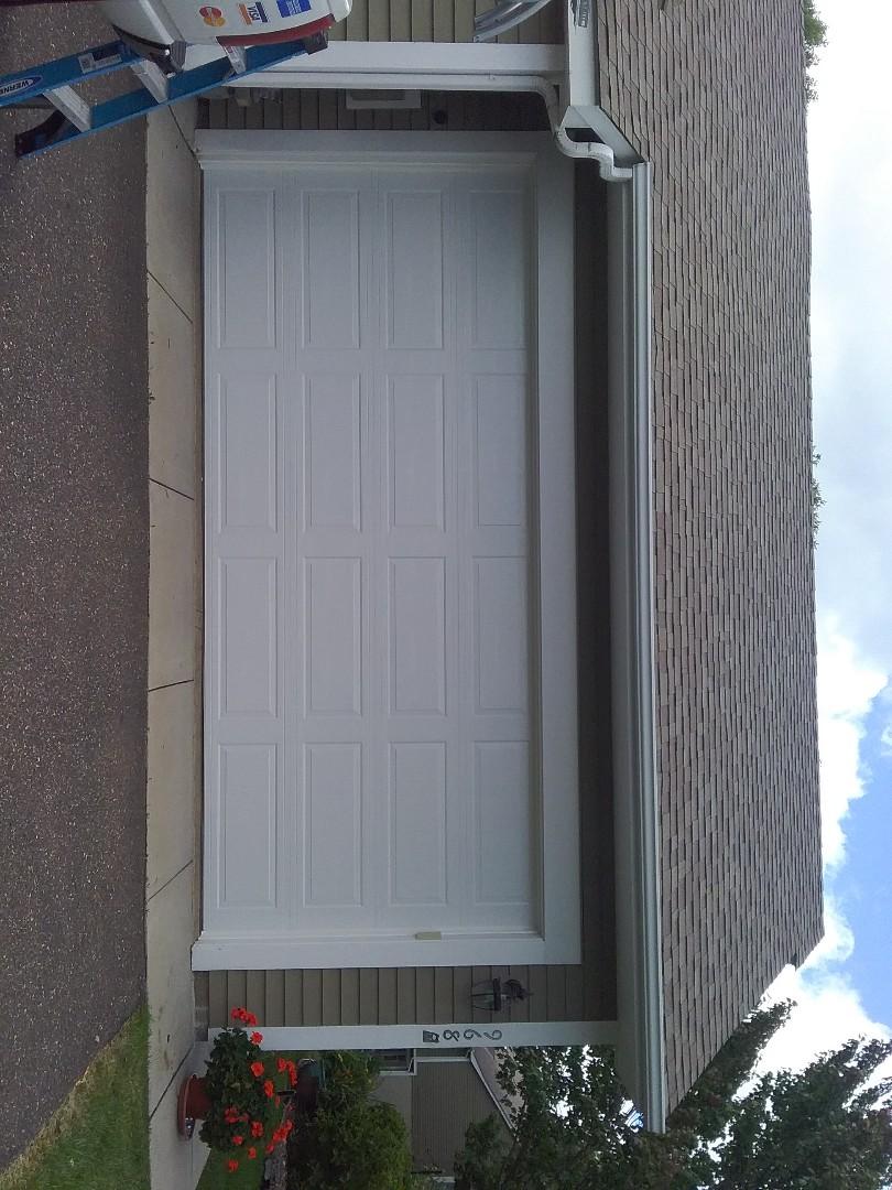 New 16�7 garage door install