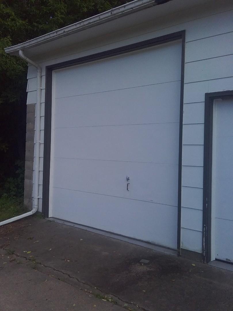 Garage door service replace  trim on Doors