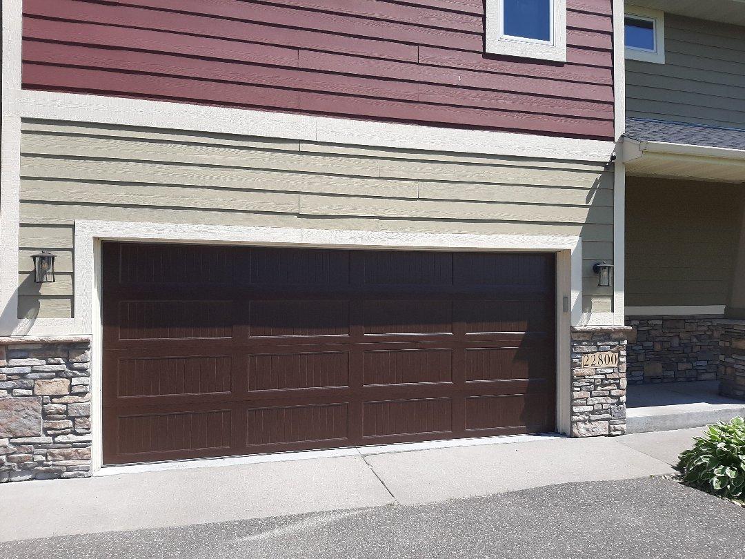 Forest Lake, MN - Jeremy installed new garage door