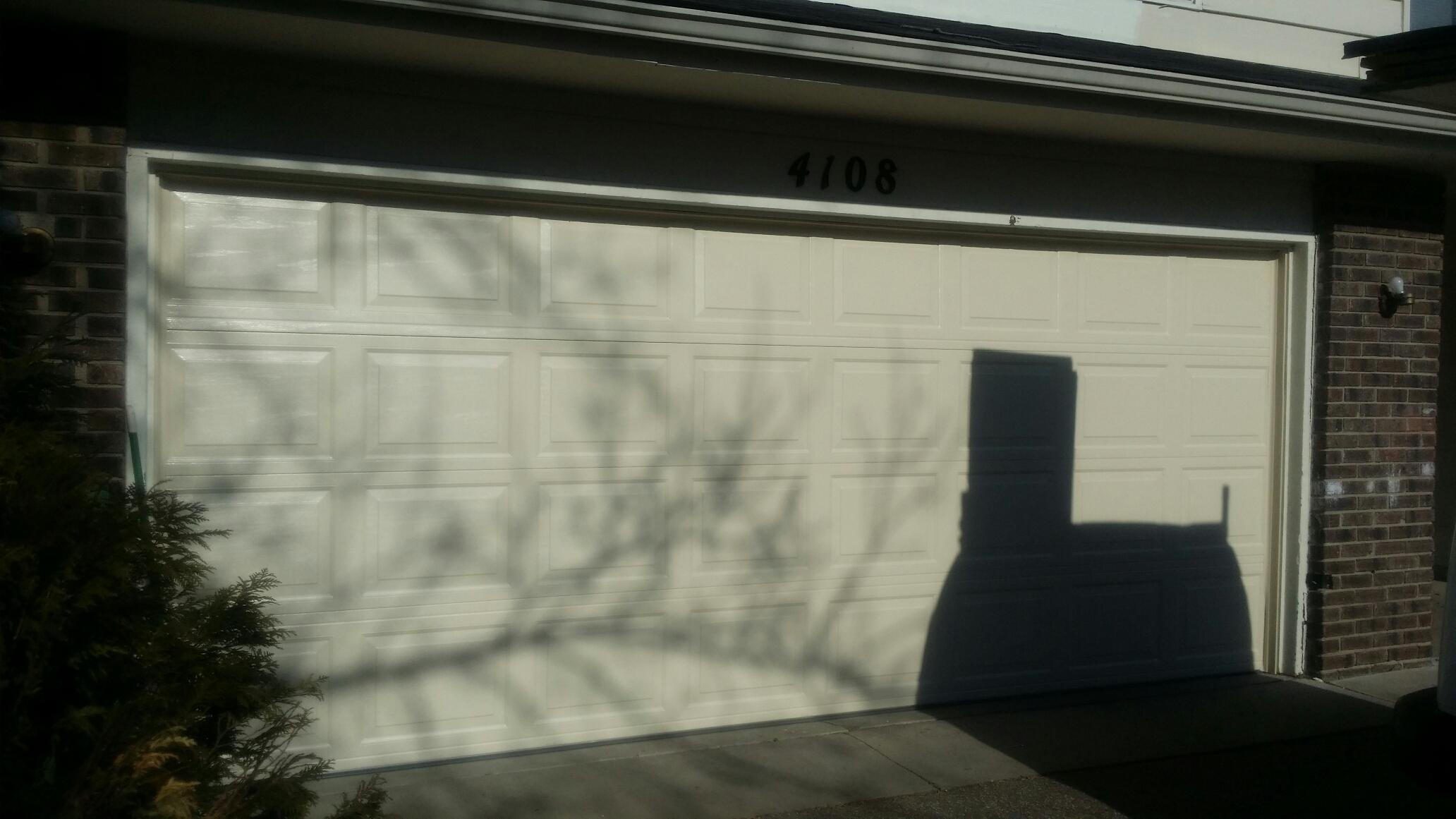 New Hope, MN - Jon installed North Central RP25 16 X 6'6 garage door