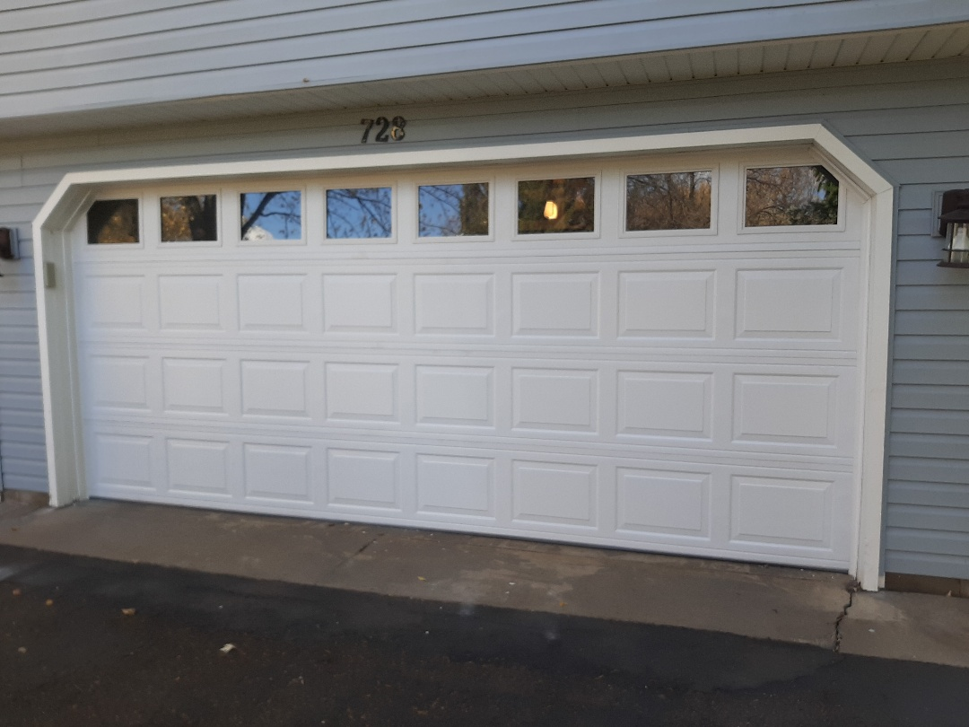 Vadnais Heights, MN - Jeremy installed new garage door