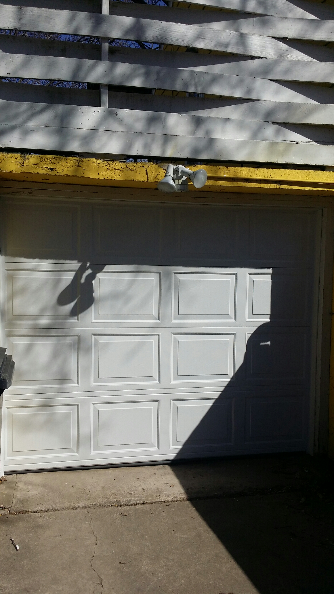 Montrose, MN - Jon and Matt installed North Central  8x6'3 RP25 Garage door with low headroom track and rear torsion