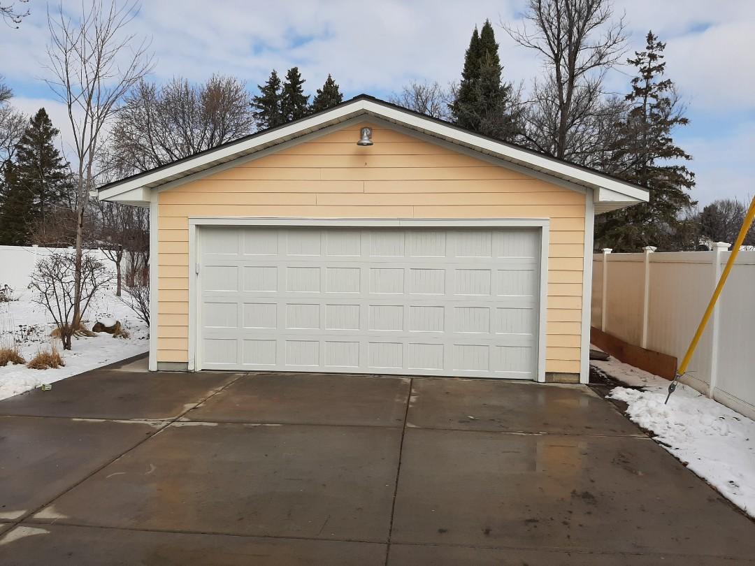 Spring Lake Park, MN - Jeremy installed new garage door