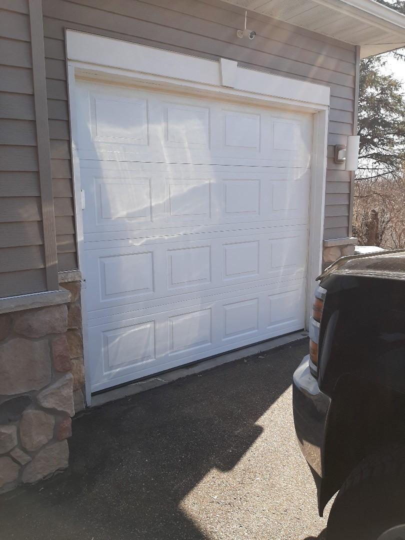 Minnetonka, MN - Jeremy installed new garage door sections