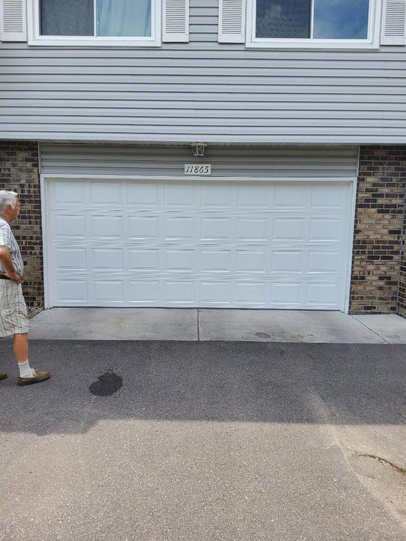 Coon Rapids, MN - Garage door replacement