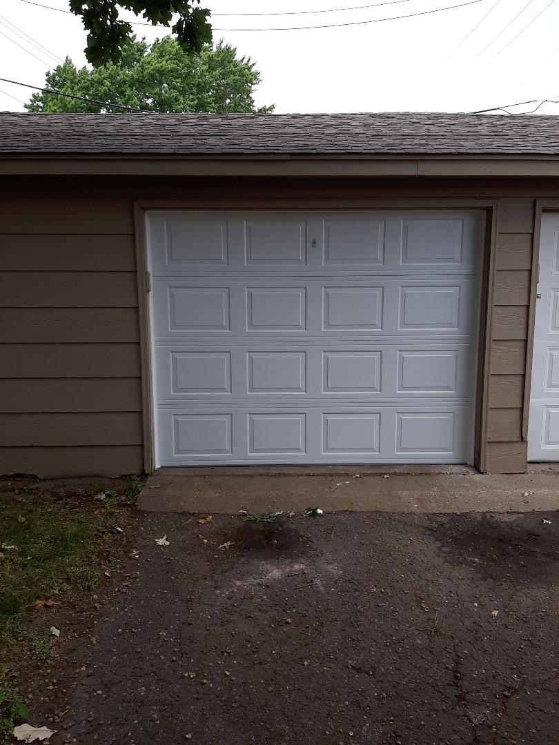 Jeremy installed new garage door