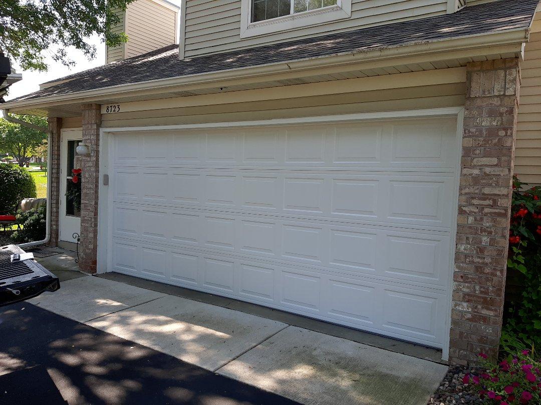 Inver Grove Heights, MN - Jeremy installed new garage door