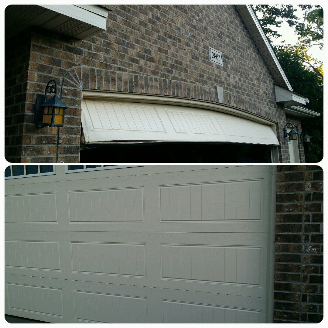 Montrose, MN - Jon fix crashed 16x8 Clopay garage door
