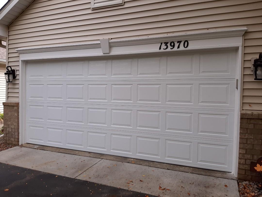 Jeremy installed new garage door panels
