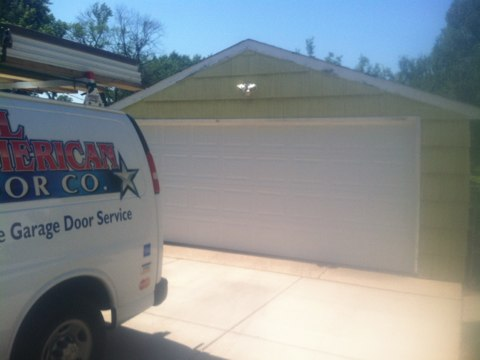 Crystal, MN - Ben installed new garage door and operator in Crystal.