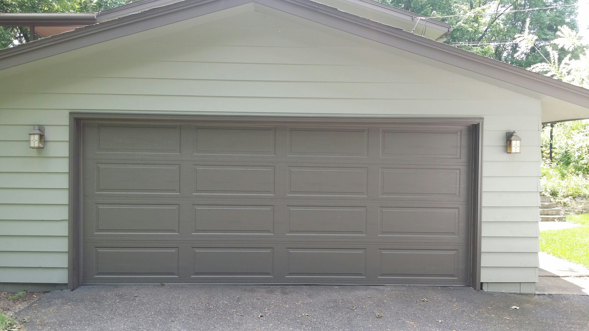 North Central 16 X 6u00279 LP138 Garage Door Installed, Customers Old Door Could