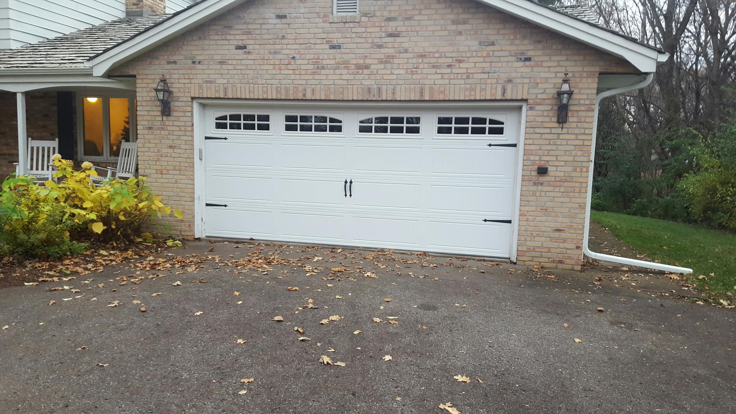 North Oaks, MN - Jeremy installed 16 by 9 garage door