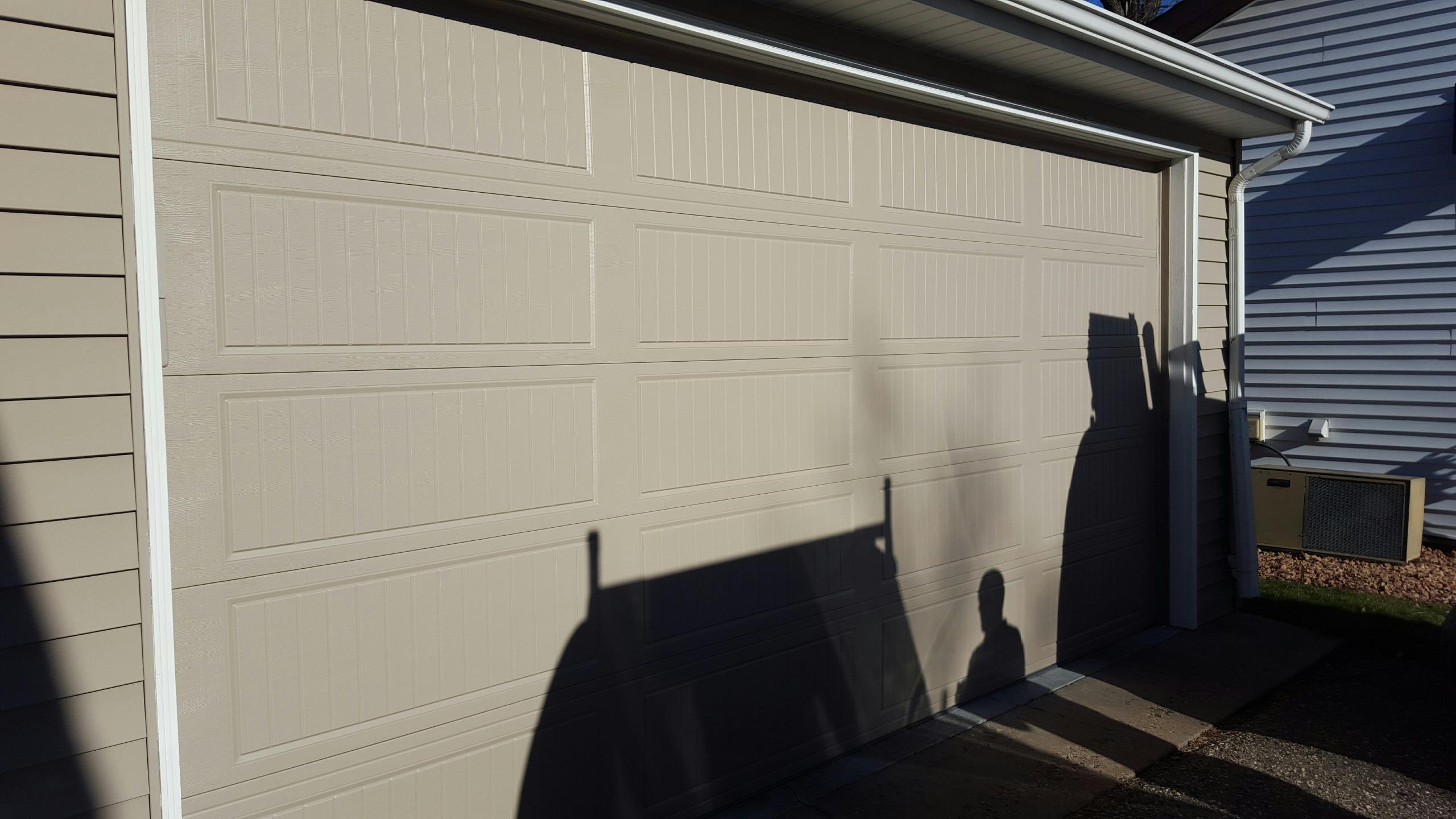 Mound, MN - Jeremy and jon installed 16 by 8 garage door