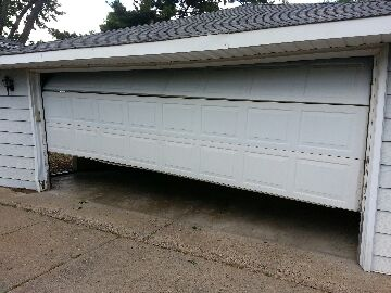 St Louis Park, MN - Josh fixed a crooked and malfunctioning garage door in St Louis Park