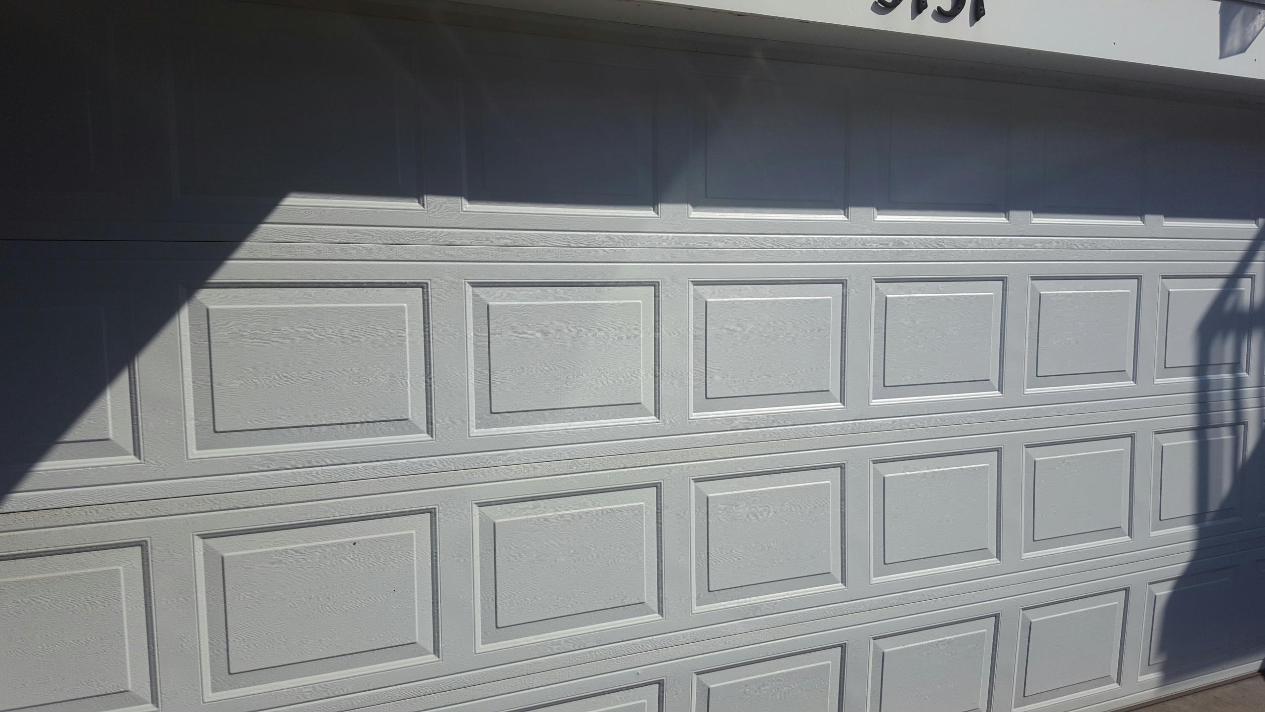Robbinsdale, MN - Jeremy replaced top section panels on garage door made by north Central